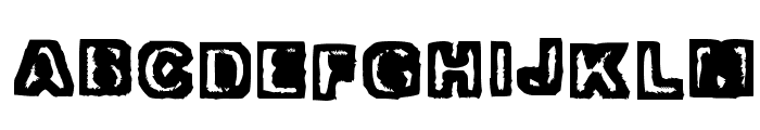 Trapped Heavy Font UPPERCASE