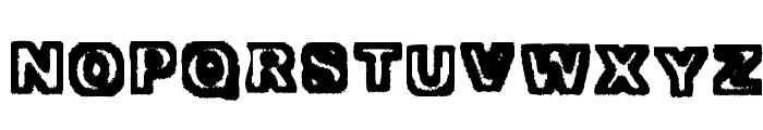 Trapped Heavy Font LOWERCASE
