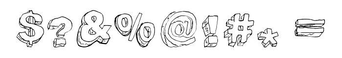 TrashFort Font OTHER CHARS
