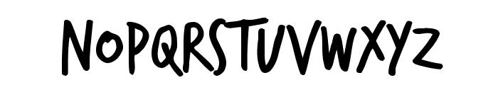 TrashHand Font UPPERCASE