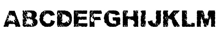 Trashed light Regular Font UPPERCASE