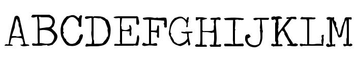 Traveling _Typewriter Font UPPERCASE