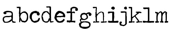 Traveling _Typewriter Font LOWERCASE
