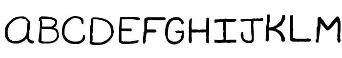 Travis Sans MS Font UPPERCASE