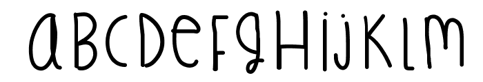 TreasureFingers Font UPPERCASE