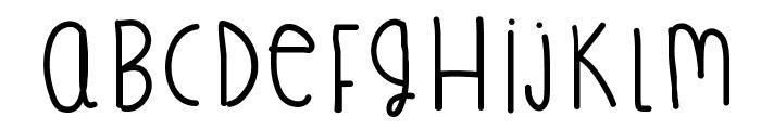 TreasureFingers Font LOWERCASE
