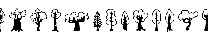 Trees Friends Font UPPERCASE