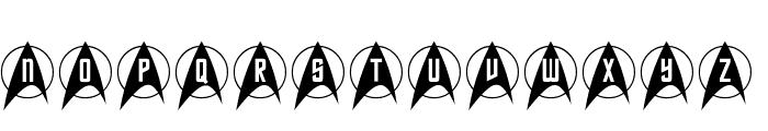 Trek Arrowcaps Font LOWERCASE