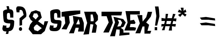 Trek Disruptor Blast Font OTHER CHARS