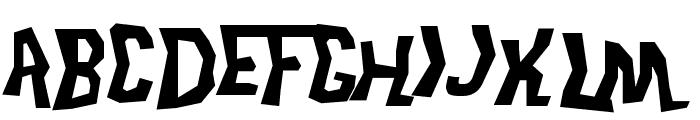 Trek Disruptor Blast Font UPPERCASE
