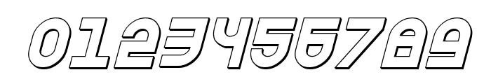 Trek Trooper 3D Italic Font OTHER CHARS