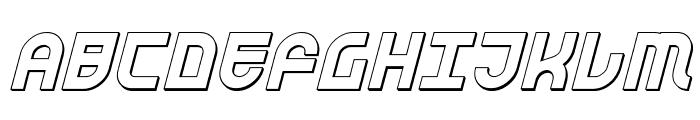 Trek Trooper 3D Italic Font UPPERCASE