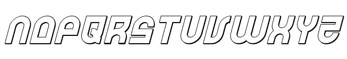 Trek Trooper 3D Italic Font LOWERCASE
