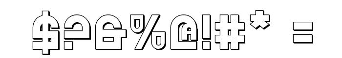 Trek Trooper 3D Font OTHER CHARS