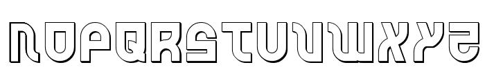 Trek Trooper 3D Font UPPERCASE