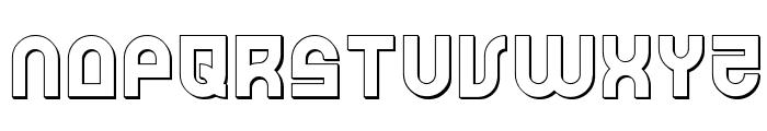 Trek Trooper 3D Font LOWERCASE
