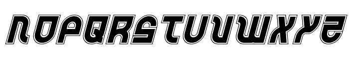 Trek Trooper Academy Italic Font UPPERCASE