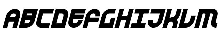 Trek Trooper Bold Italic Font UPPERCASE