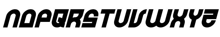 Trek Trooper Bold Italic Font LOWERCASE