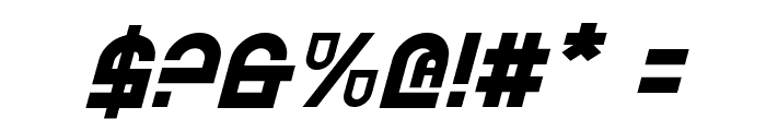 Trek Trooper Italic Font OTHER CHARS