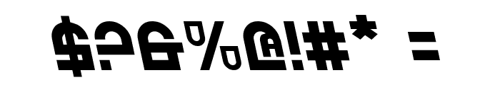 Trek Trooper Leftalic Font OTHER CHARS
