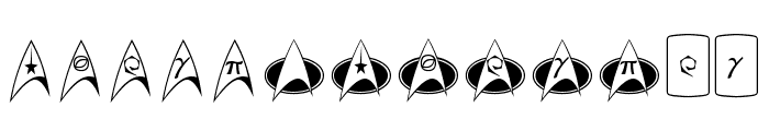 TrekArrowheads Font LOWERCASE