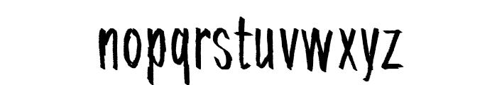 Tremolo Flaw Font LOWERCASE
