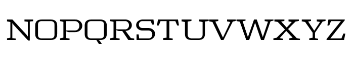 Tretton Serif Regular Font UPPERCASE