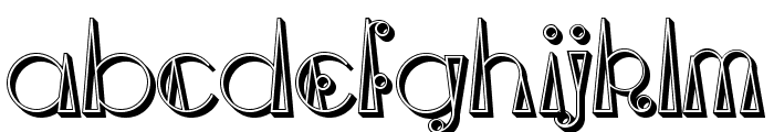 TriangleETcircle Shadowed Font LOWERCASE