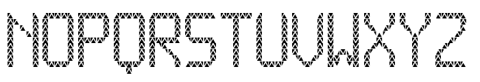 Triangled tfb Font UPPERCASE