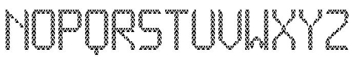 Triangled tfb Font LOWERCASE