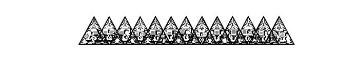 TriangularHD Font UPPERCASE