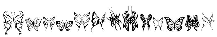 Tribal Butterflies Font UPPERCASE