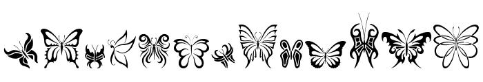 Tribal Butterflies Font LOWERCASE