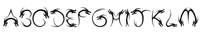Tribal Dragon Font UPPERCASE