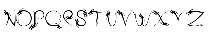 Tribal Dragon Font LOWERCASE