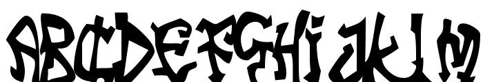 Tribal Funk Font UPPERCASE