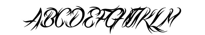 Tribal Script Font UPPERCASE