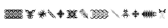 Tribal Tattoo Addict Font UPPERCASE