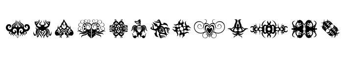 Tribal Tattoo Addict Font LOWERCASE