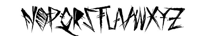 Tribal Threat Font UPPERCASE