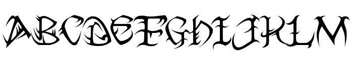 Tribal Two Font UPPERCASE