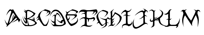 Tribal Font UPPERCASE