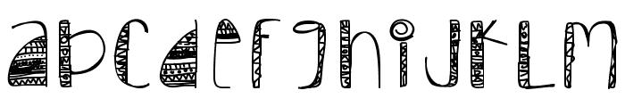 Tribal Font UPPERCASE