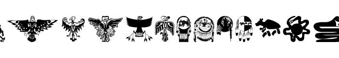 TribalBats Font UPPERCASE