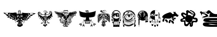 TribalBats Font LOWERCASE
