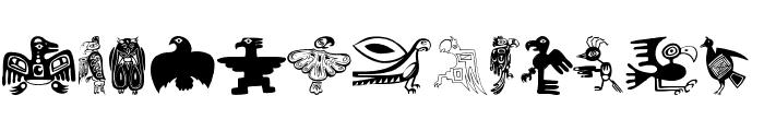 TribalBirdsTheMissingGap Font UPPERCASE