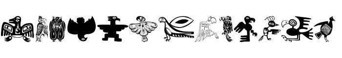 TribalBirdsTheMissingGap Font LOWERCASE
