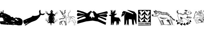 TribalDesignsCinque Font UPPERCASE