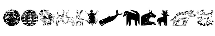 TribalDesignsCinque Font LOWERCASE